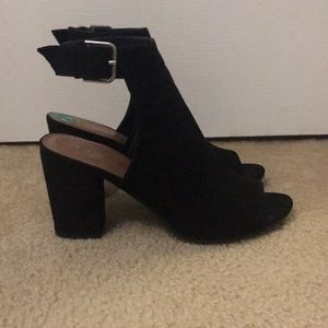 Black Heeled Booties Size 8 Rampage Worn Once